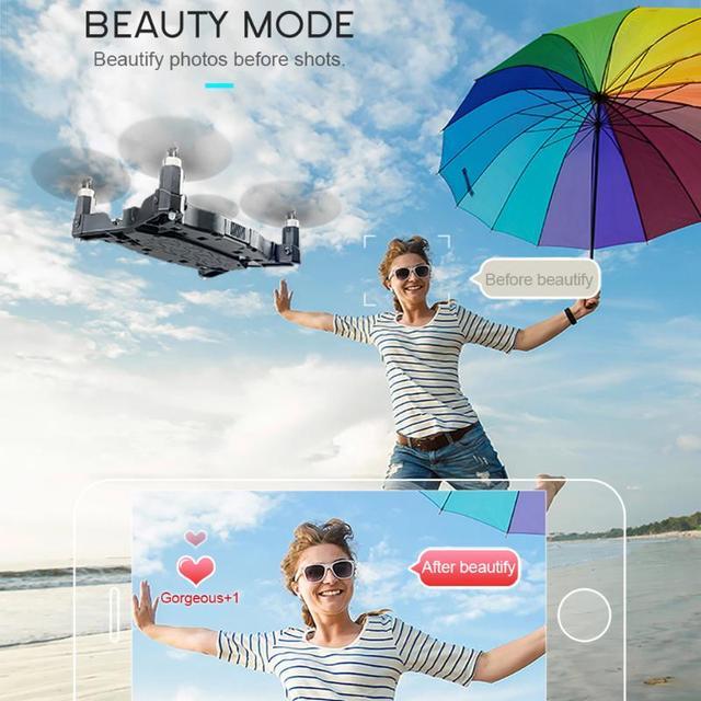 White Black JJRC H49 Wifi FPV 720P HD Camera Ultra-thin Foldable Mini Size Drone RC Simulators Toy Drop Shipping Remote Control 3