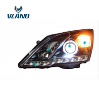 VLAND Factory For Car Head Lamp For CRV LED Headlight With Angel Eyes LED DRL H7 Xenon Lamp 2009 2010 2011 LED Head Lamp