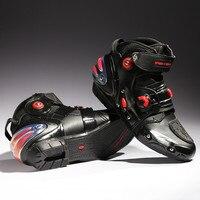 Speed pro-אופנוען האופנוענים נמר שחור מגפיים מחוץ לכביש אופנוע מירוץ של moto moto גברים לנשימה אופנוע אתחול נעלי a9001