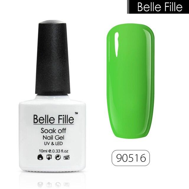 BELLE FILLE 10ml UV Gel Nail Polish 2016 Trend Green Color nail art ...
