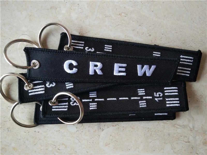 Crew 33 15 Motorfiets Sleutelhanger Zwarte Rand Borduren