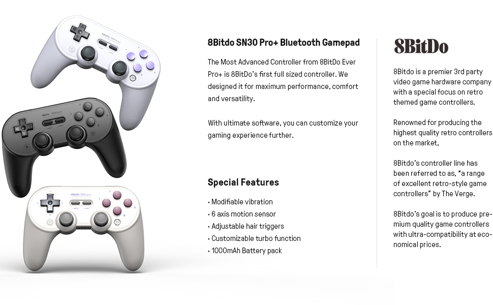 SN30 pro plus Official 8BitDo SN30 PRO+ Bluetooth Gamepad Controller with Joystick for Windows Android macOS Nintendo Switch 22