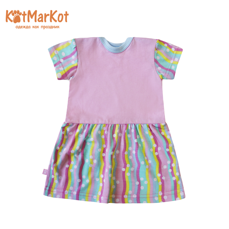Dress for girls КОТМАРКОТ 7892 girls zip back appliques armhole dress