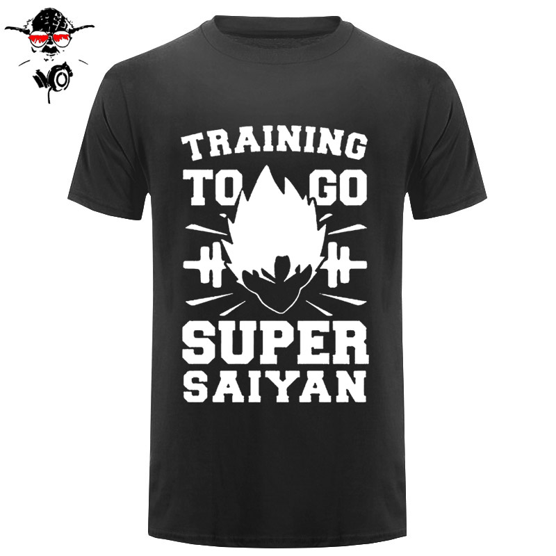 Training To Go Super Saiyan Funny Fitness Mens T-Shirt T Shirt For Men Short Sleeve Cotton Casual Top Tee Camisetas Hombre