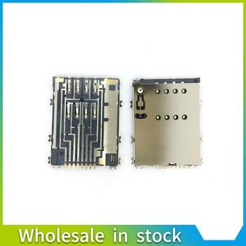 5PCS/LOT for Samsung W999 S5750E P7500 I8530 P6800 S5250 P7100 p5100 w899 sim card reader tray connector socket