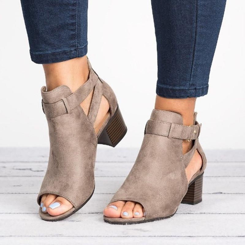 Schuhe Offen 2019 Sommer Frauen Sandalen Mode Fisch Mund Frauen Schuhe Roma Schuhe Sapatos Femininos Schnalle Komfort Damen Schuhe Plus Größe 43 Herausragende Eigenschaften