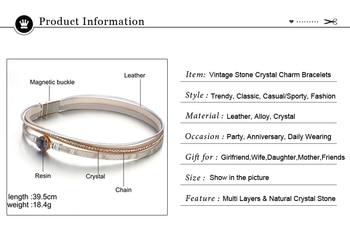 IF YOU Fashion Pearl Multilayer Leather Vintage Charm Pendant Bracelets 4