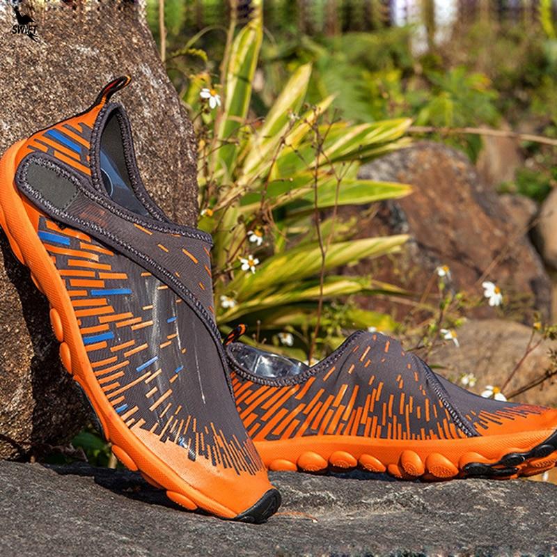 Противоударная обувь для водных видов спорта мужские и женские акваобувь летние дышащие кроссовки уличные пляжные сандалии для прогулок