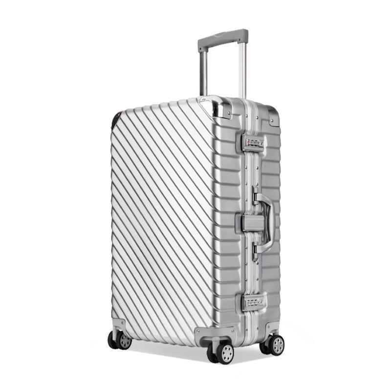 20 25 29 pouces En alliage D'aluminium cadre voyage d'affaires valises et sacs de voyage valise cabine koffer maletas bagages à main