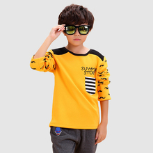 Tees Character Worsted Children T-shirt 2016 Fashion Cotton Boy Tops Long Sleeve New Brand Children's Clothing Worsted T-shirt