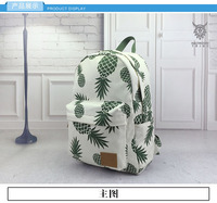 Fashion Female Canvas Women Backpack Casual Preppy Leather Black Backpacks Printed Computer Bag Ladies Backpack 30