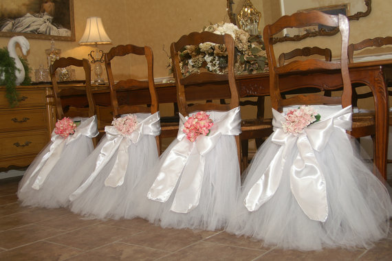 completely custom tulle chair skirt tutu chair decoration for weddings birthdays baby bridal showers parties tutu
