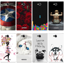 Colorful Cases for Sony Xperia C S39H C2305 Printing Drawing Mobile