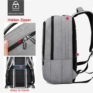 "Image 4 - KAKA 캐주얼 남성 배낭 USB 충전 대용량 여행 가방 15.6 ""노트북 백팩 schoolbag for teens mochila women back pack"