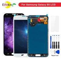1PCS/Lot S5 LCD Screen Digitizer Assembly For Samsung Galaxy S5 SM G900 G900F G900I G900M Display Touch Digitizer Free Shipping