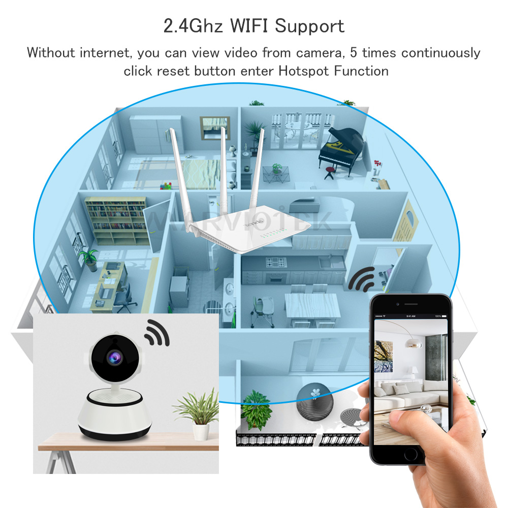 Image 4 - Home Security Baby Monitor WiFi IP Camera Wireless Baby Camera Audio Record Video Surveillance Camera 720P HD Night vision P2P-in Baby Monitors from Security & Protection