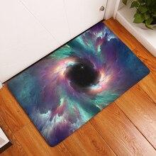 Comwarm mágico colorido magnífico patrón universo Galaxy Esterillas antideslizante piso puerta Esterillas s casa dormitorio pasillo Alfombras pie almohadillas
