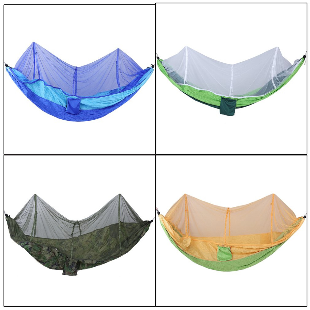 Ultralight Outdoor Camping Mosquito Net Parachute Hammock 2 Person Flyknit Garden Hammock Hanging Bed Leisure Hammock Travel Kit недорого