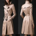 Trench Coat For Women Burderry Women Autumn And Winter Trench European Windbreaker Trend Slim Double-breasted Long Coat Casual