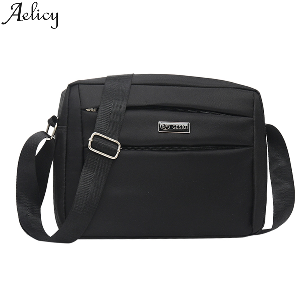 Aelicy 2019 Fashion Men 2019 Casual Solid Color Nylon Business Big Shoulder Bags crossbody bags  messenger bag Lady HandbagAelicy 2019 Fashion Men 2019 Casual Solid Color Nylon Business Big Shoulder Bags crossbody bags  messenger bag Lady Handbag