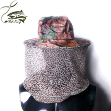 Anti-Mosquito Bee Insect Fishing Mask Mesh Head Face Protect Hat Net Camouflage free shipping