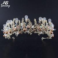 Boho Queen Headband Bridal Rhinestone Crystal Tiara Princess Crown Birthday Wedding Pageant Hair Accessories