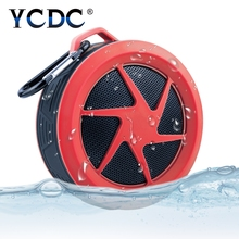 YCDC Portable Bluetooth Speaker Shower Waterproof Wireless Car Handsfree Music Built-in Mic for iPhone 7 Huawei Support TF Card