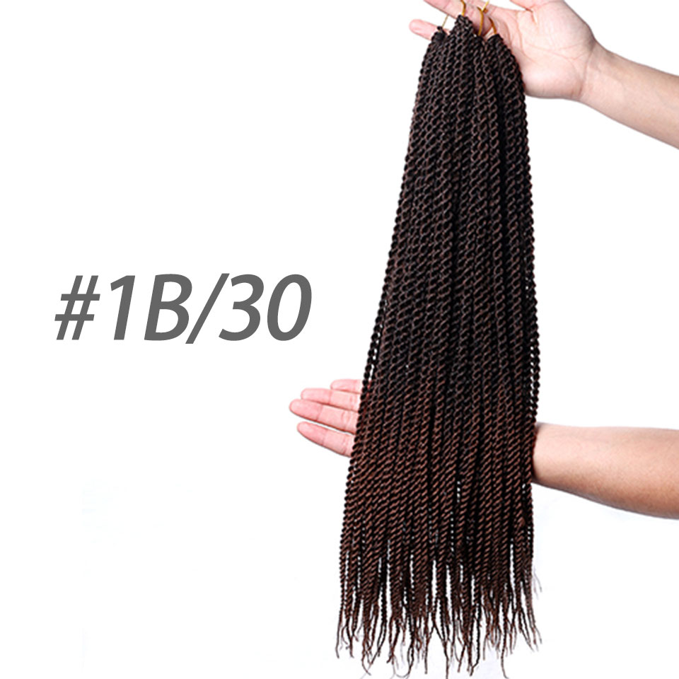 DIFEI Products Twist Crochet Hair Extensions 1-7Packs Ombre Kanekalon Crochet Braids Senegalese Twist Hair 22 30Strands ...