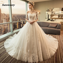 Satsweety Vestido de Noiva Ball Gown Wedding Dress 2019