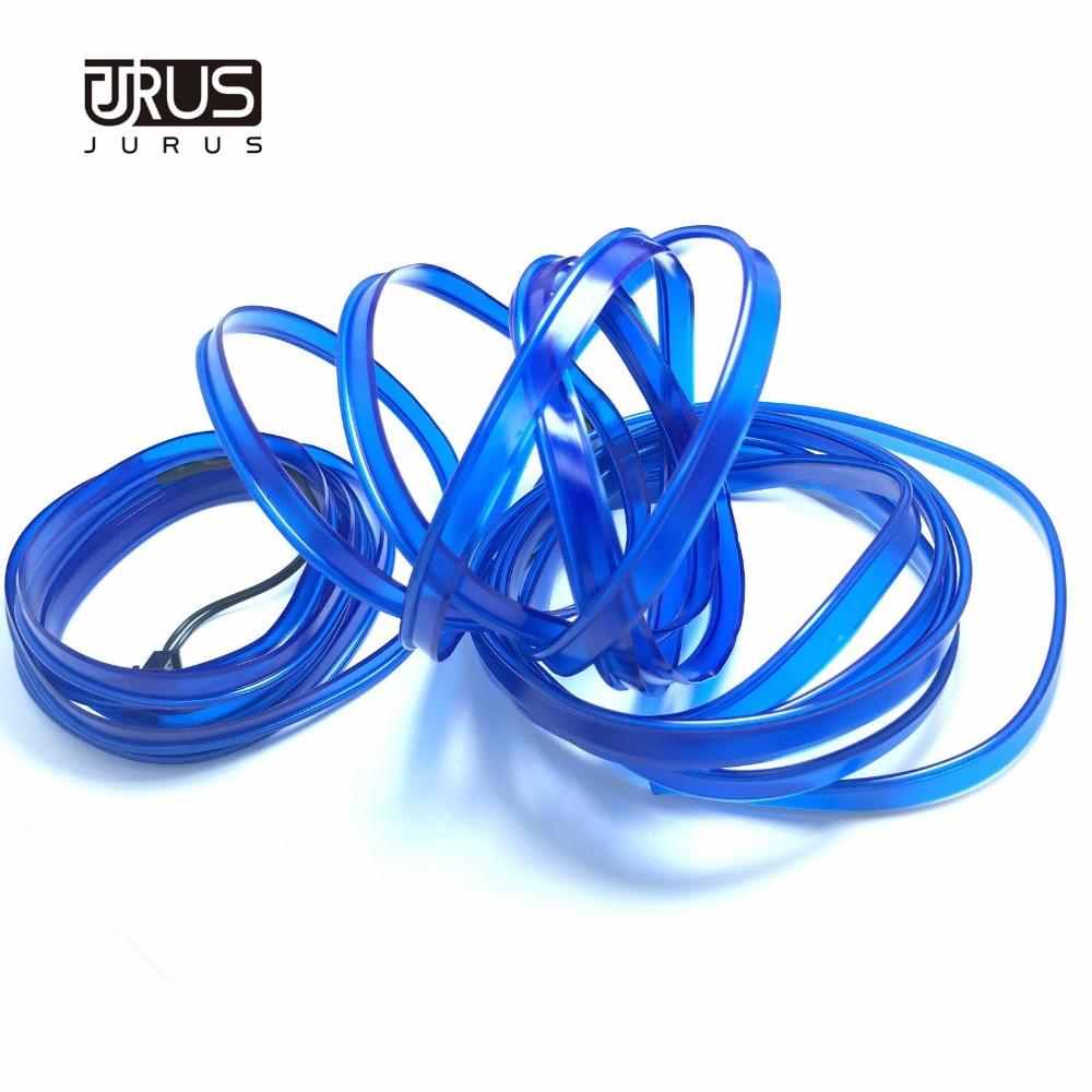 JURUS 3Meter Fleksibel Neon El Wire Billys Interiør Glød 12V Led - Billygter - Foto 5