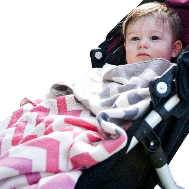 Double Layer Cotton Knitted Baby Blanket Newborn Gift Super Soft Blanket for Stroller Infant Crib Bedding For Boy Girl 76*102cm