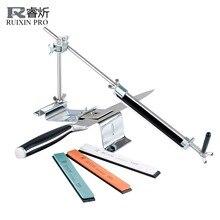 RUIXIN PRO III точилка для ножей Профессиональная полностью железная сталь кухонная система заточки инструменты фиксированный угол с 4 камнями точильный камень III