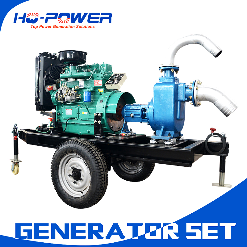 cheap price 30kw 40kva mobile irrigation water pump diesel engine generator