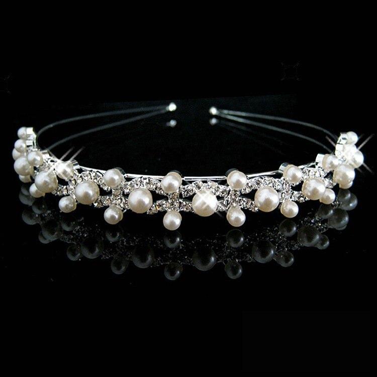 HTB1Vv0yIFXXXXbaXXXXq6xXFXXXz Bejeweled Pearl And Rhinestone Crystal Bridal/Prom/Cosplay Crown Tiara - 16 Styles