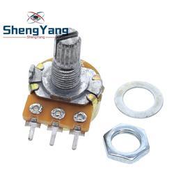 Potenciómetro ShengYang estéreo/pa/sellado WH148 B1k B2k B5k B10k B20k B50k B100k B250k B500k B1M 15mm 3 pines, 1 Uds.