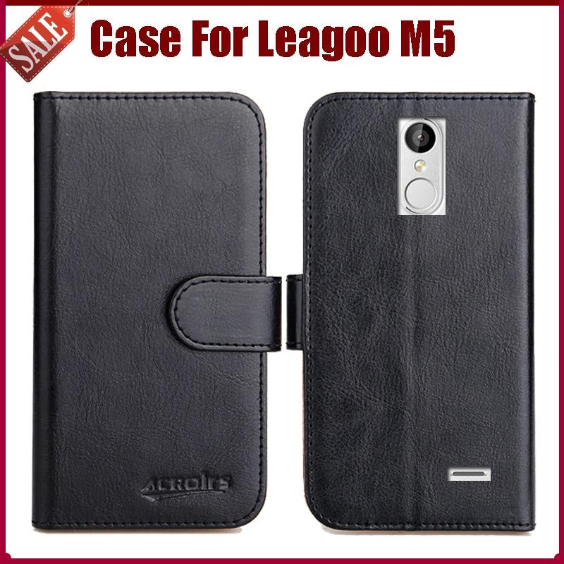 Leagoo M5 Väska Ny ankomst 6 färger Hög kvalitet Flip läder - Reservdelar och tillbehör för mobiltelefoner