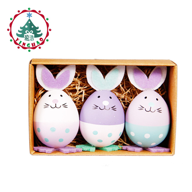 Inhoo 3pcs plastic easter eggs rabbit easter decoration arts crafts inhoo 3pcs plastic easter eggs rabbit easter decoration arts crafts easter bunny eggs decor gifts toys negle Gallery