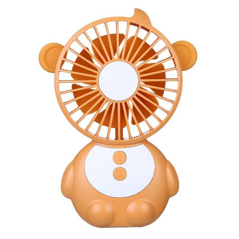 Обезьяна образный Настольный вентилятор мини Usb портативный ручной вентилятор с ночным светом