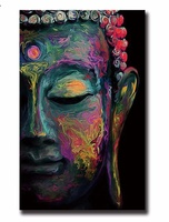 Buddha Wall Art Abstract Painting Poster Vintage Modern Unframed Canvas Painting Poster Retro Cuadros Decoracion Infantiles