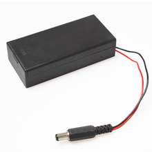 2*18650 Battery Box Case Holder Series Storage Switch&Cover DC Plug For Soldering Connecting