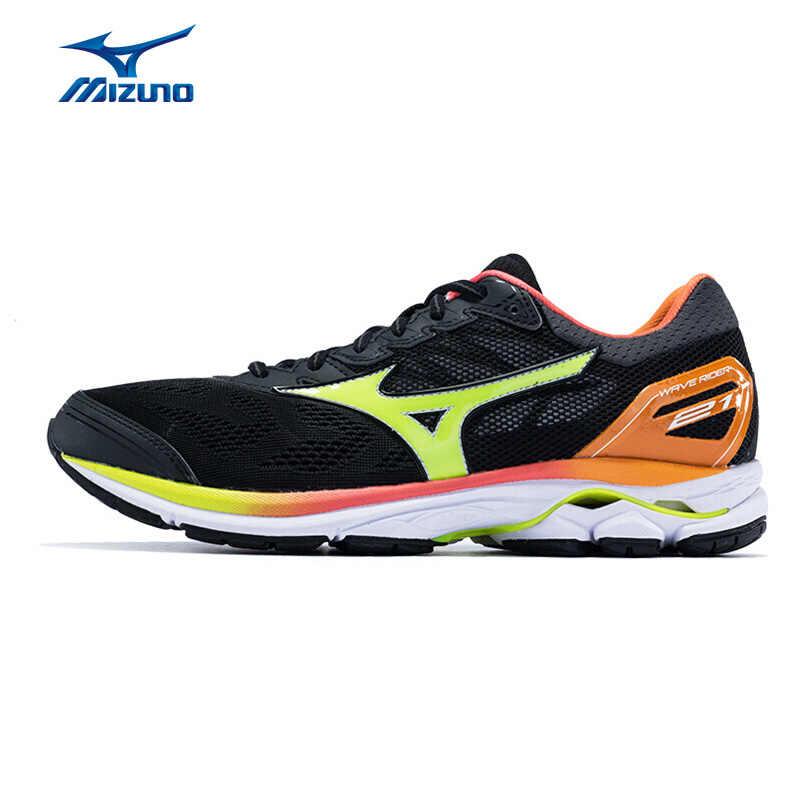 mizuno men's wave rider 21 running shoe review traduccion