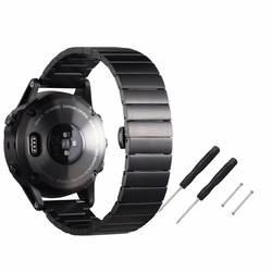 Из Металла Нержавеющаясталь часы ремешок Ремешок Браслет ремень браслет 22 мм для Garmin fenix5 + 2 инструменты + 2 контакты