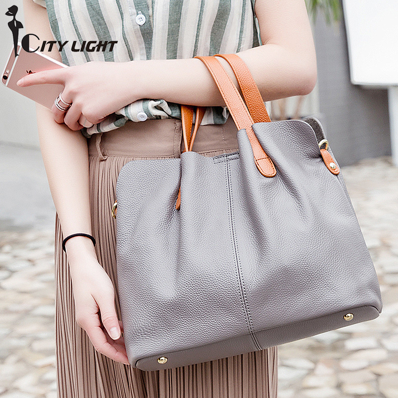 Ladies Genuine Leather Bag Women Messenger Bags Handbags Women Famous Brands Crossbody Bags For Women Shoulder Bag Big купить