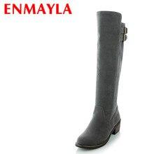 New 3-color Advanced Scrub Boots Fashion Women Black Beige Gray Knee-High Winter Platform Shoes