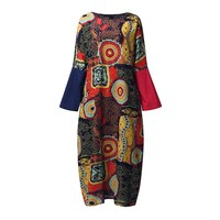 Zanzea 2017 Women Cotton Linen Vintage Dress Spring Autumn Casual Loose Boho Long Maxi Dresses Vestidos