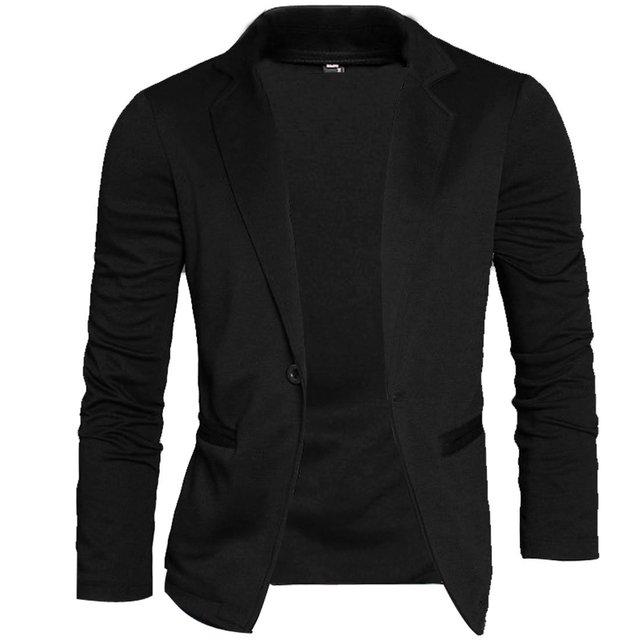 MYTL 2016 Primavera de moda de los hombres de punto Slim Fit Blazer  chaquetas hombres 1e54f01ff52