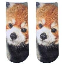 Новинка; Модные Повседневные носки для бега; милые носки с объемным принтом животных
