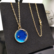 YD&YDBZ New Planet Pendant Necklace For Women Fashion Trendy Moon Accessories Long Necklaces Gold Chain Simple Jewelry Wholesale