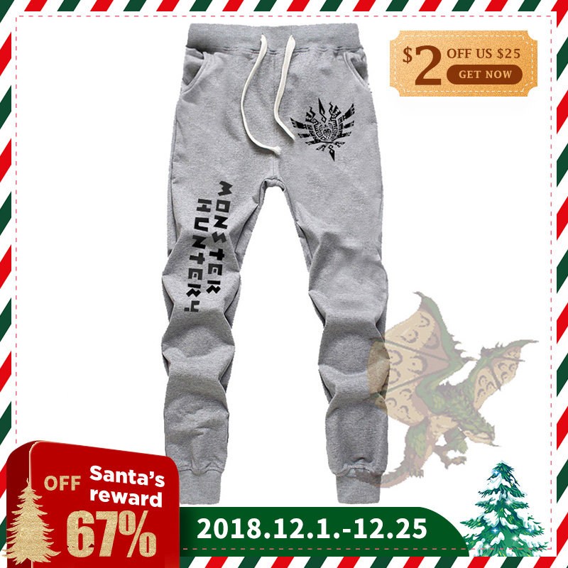 WGTD WISH Print Pants Casual Mens Spring Sweatpants Jogger Baggy Sport Trousers Tall Man Plus Size 3XL Monster Hunter Anime Pant