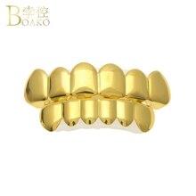 BOAKO Bling grillz Men Hip Hop Gold Dental Grills Tooth Grillz Cap Rapper Teeth Caps Punk Jewelry Party Gift Z5
